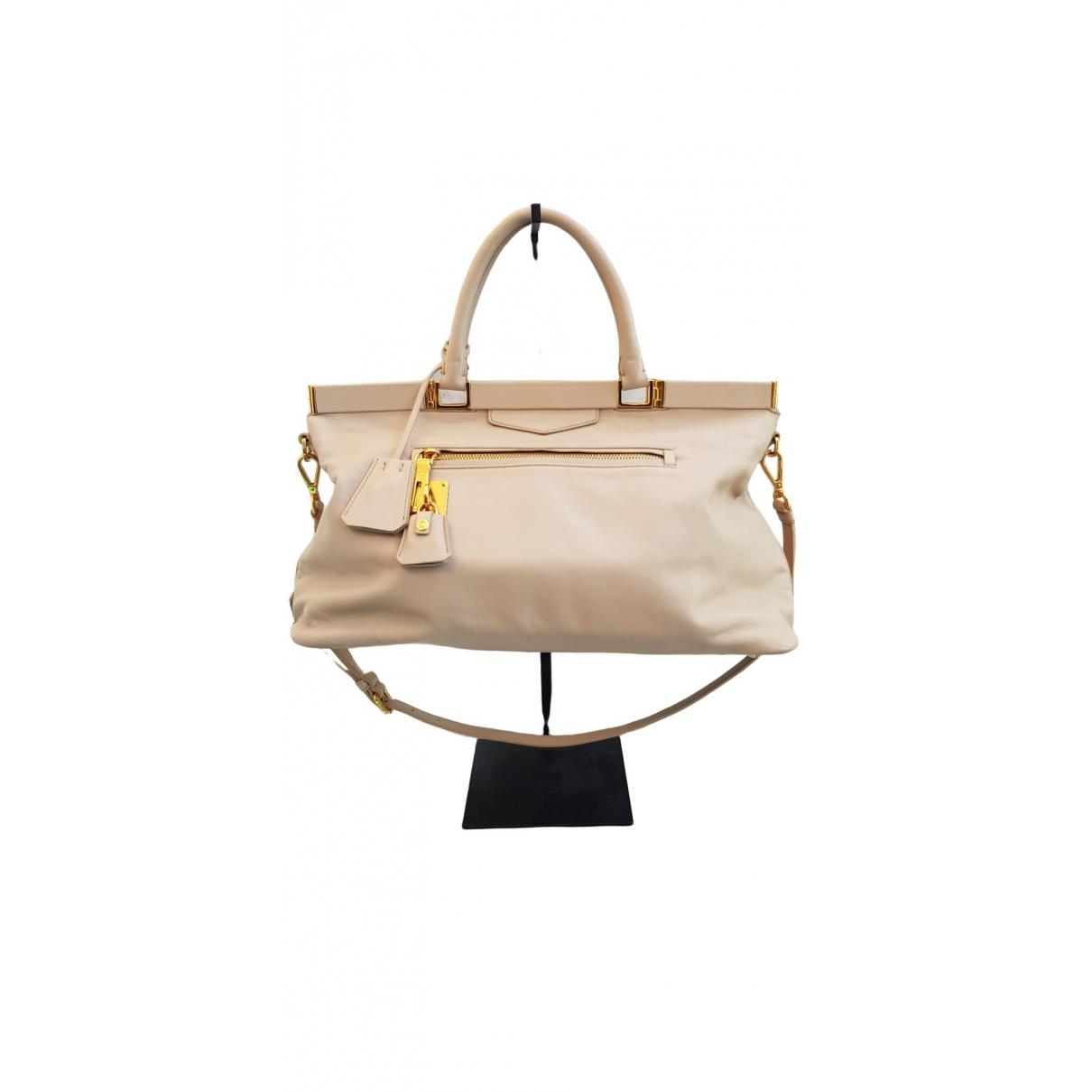 Prada \N Ecru Leather handbag for Women \N