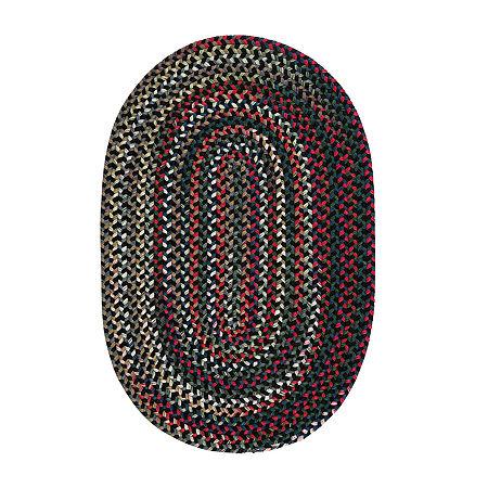 Colonial Mills American Pride Braided Oval Reversible Indoor Rugs, One Size , Black