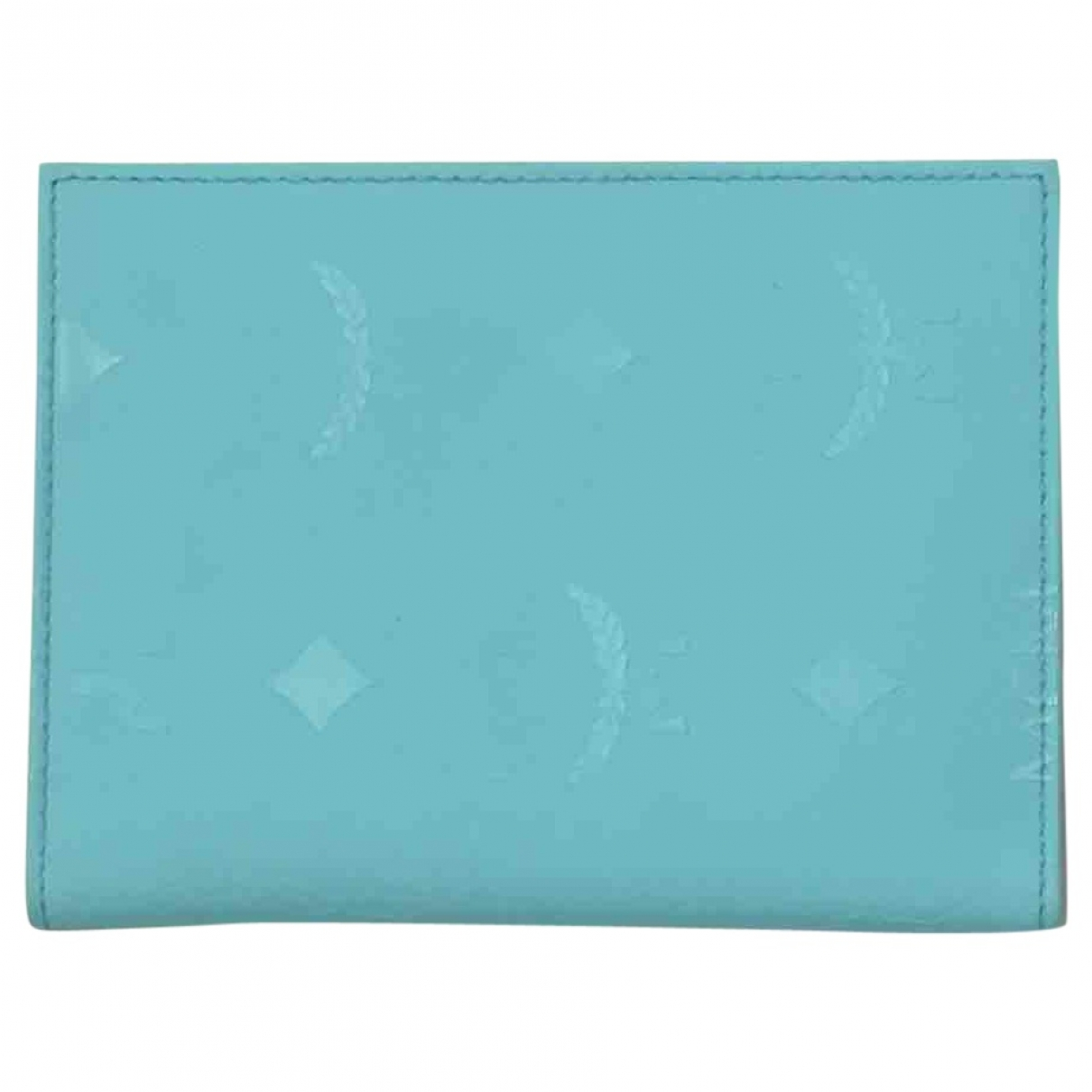 Mcm \N Turquoise Leather Small bag, wallet & cases for Men \N