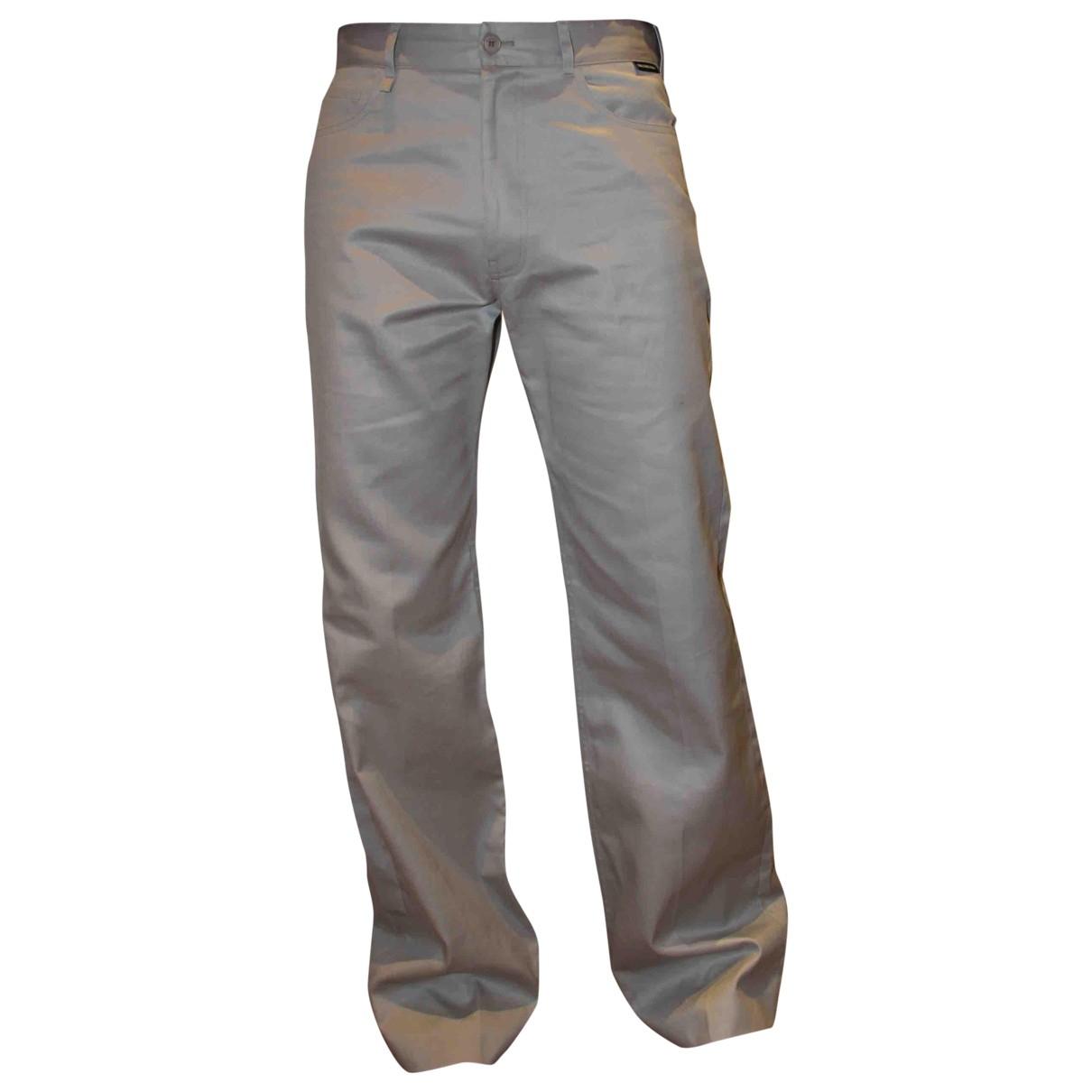 Balenciaga \N Grey Cotton Trousers for Men 48 IT
