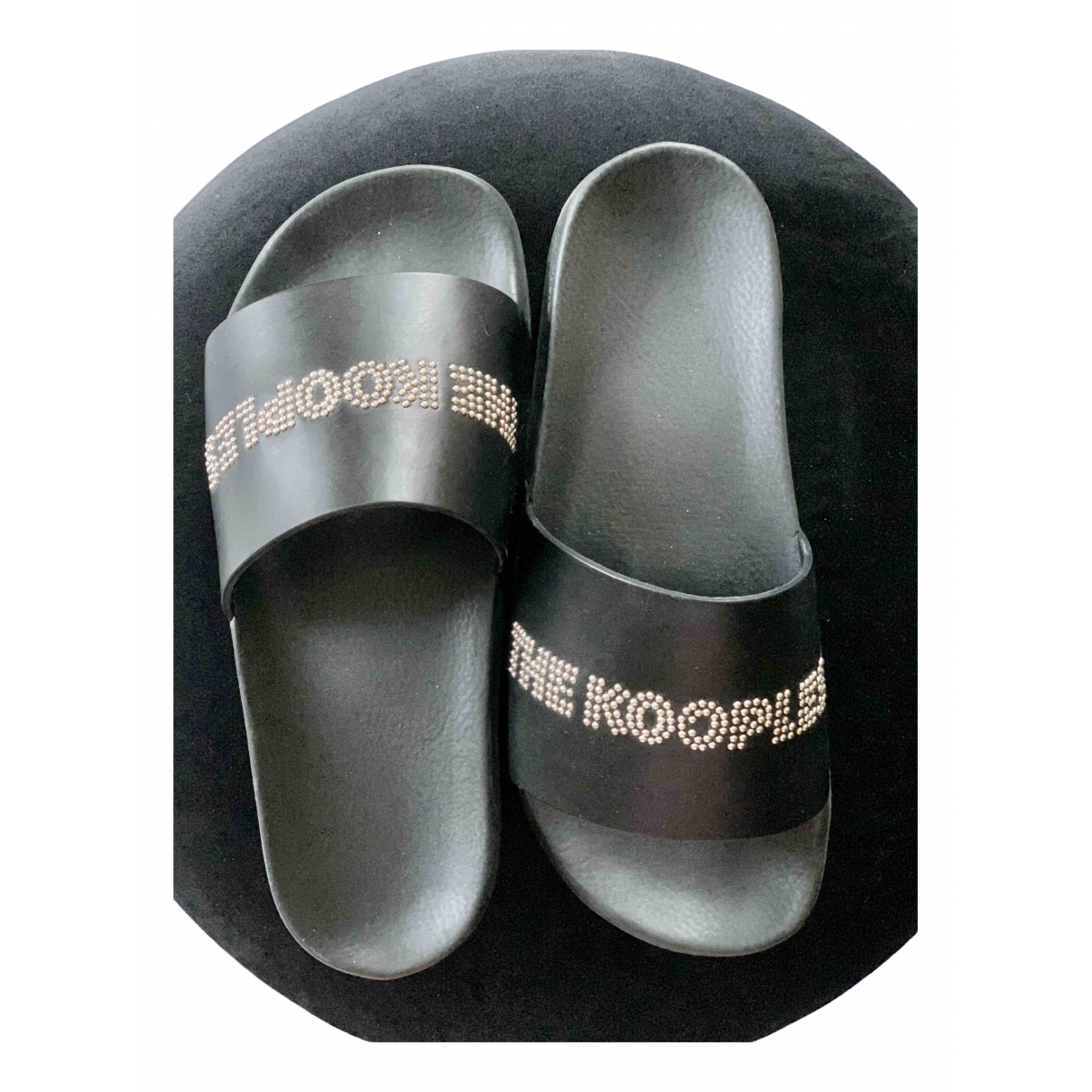 The Kooples Spring Summer 2020 Black Leather Sandals for Women 39 EU