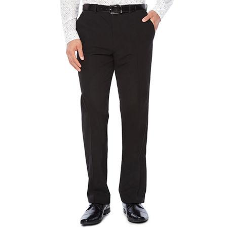 JF J. Ferrar 360 Stretch Slim Fit Suit Pants, 34 34, Black