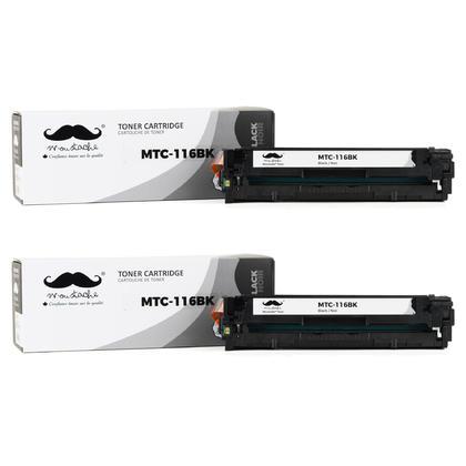 Compatible Canon 116BK 1980B001AA Black Toner Cartridge - Moustache@ - 2/Pack