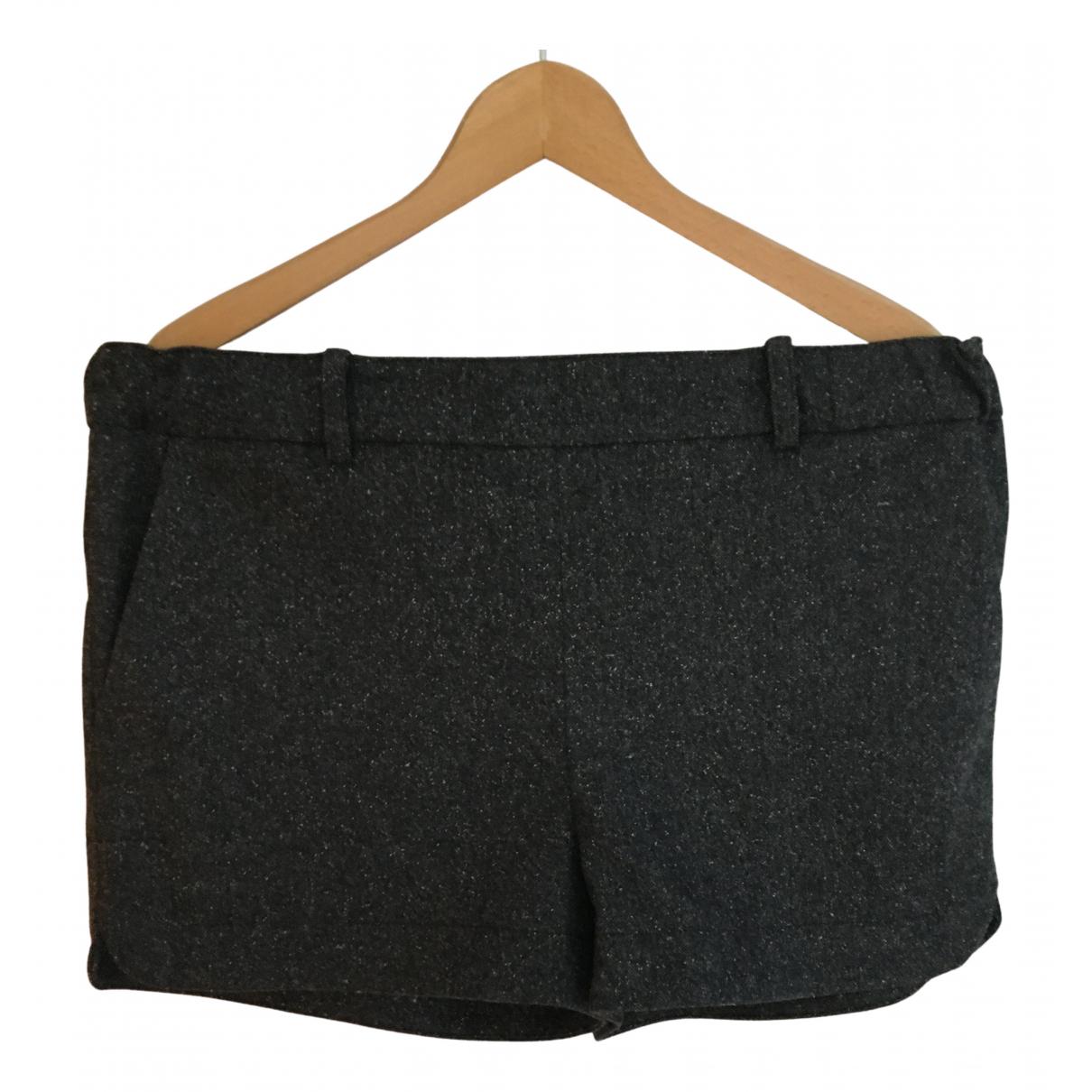 Sezane \N Shorts in  Grau Wolle