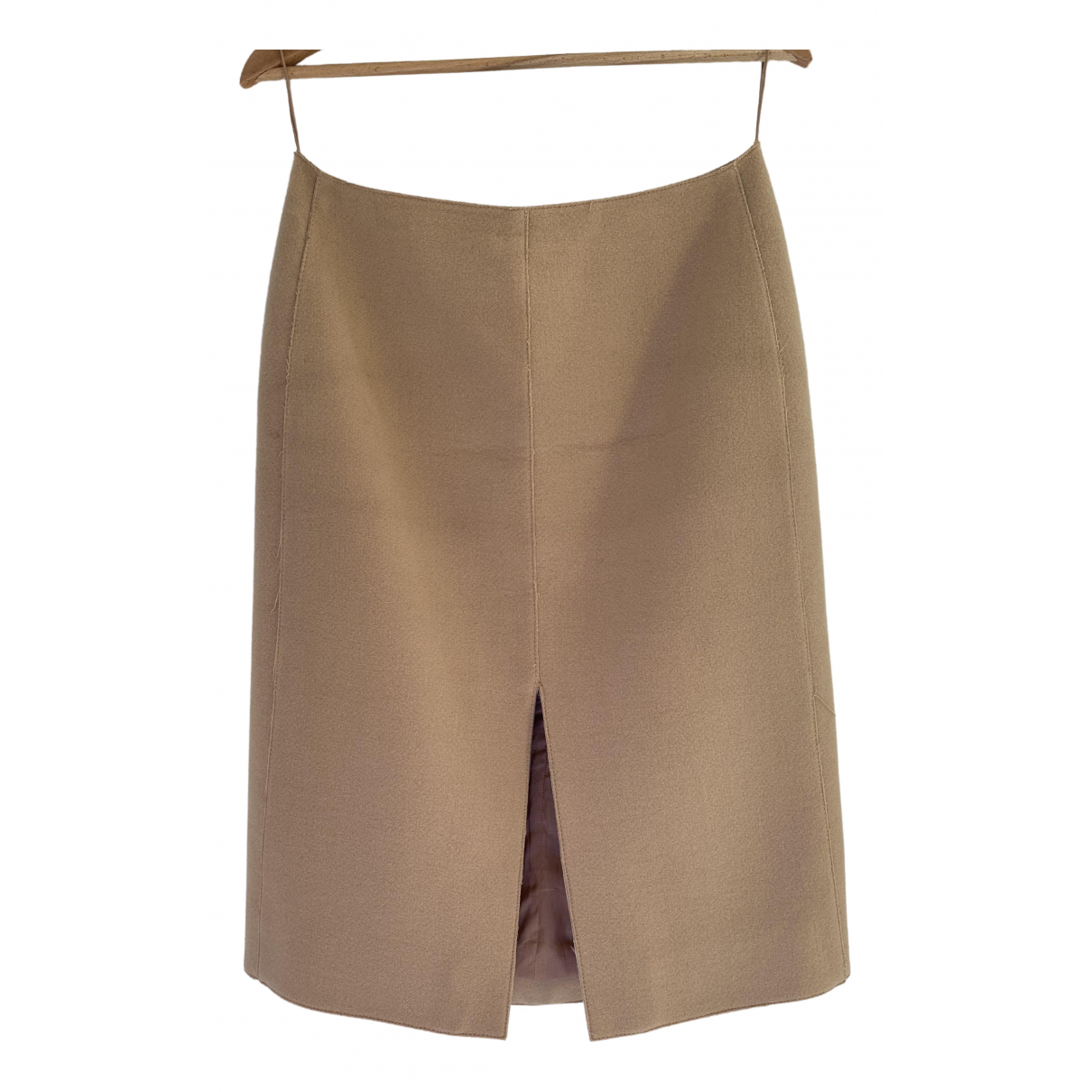 Carven \N Beige Wool skirt for Women 40 FR