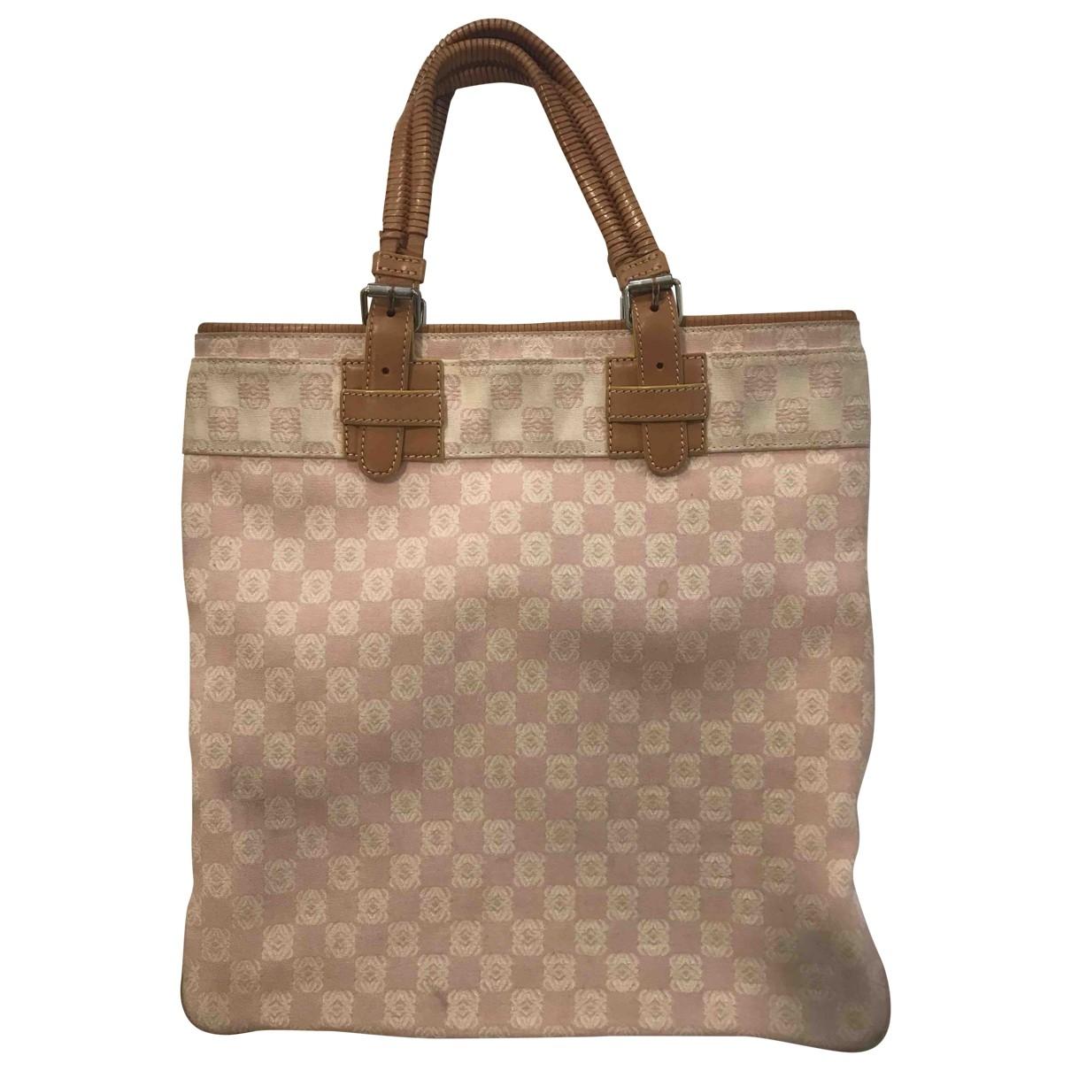 Loewe \N Pink Cloth handbag for Women \N