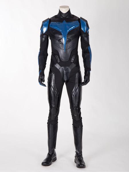 Milanoo DC Comic Titan Nightwing Outfit Cosplay Costume Halloween