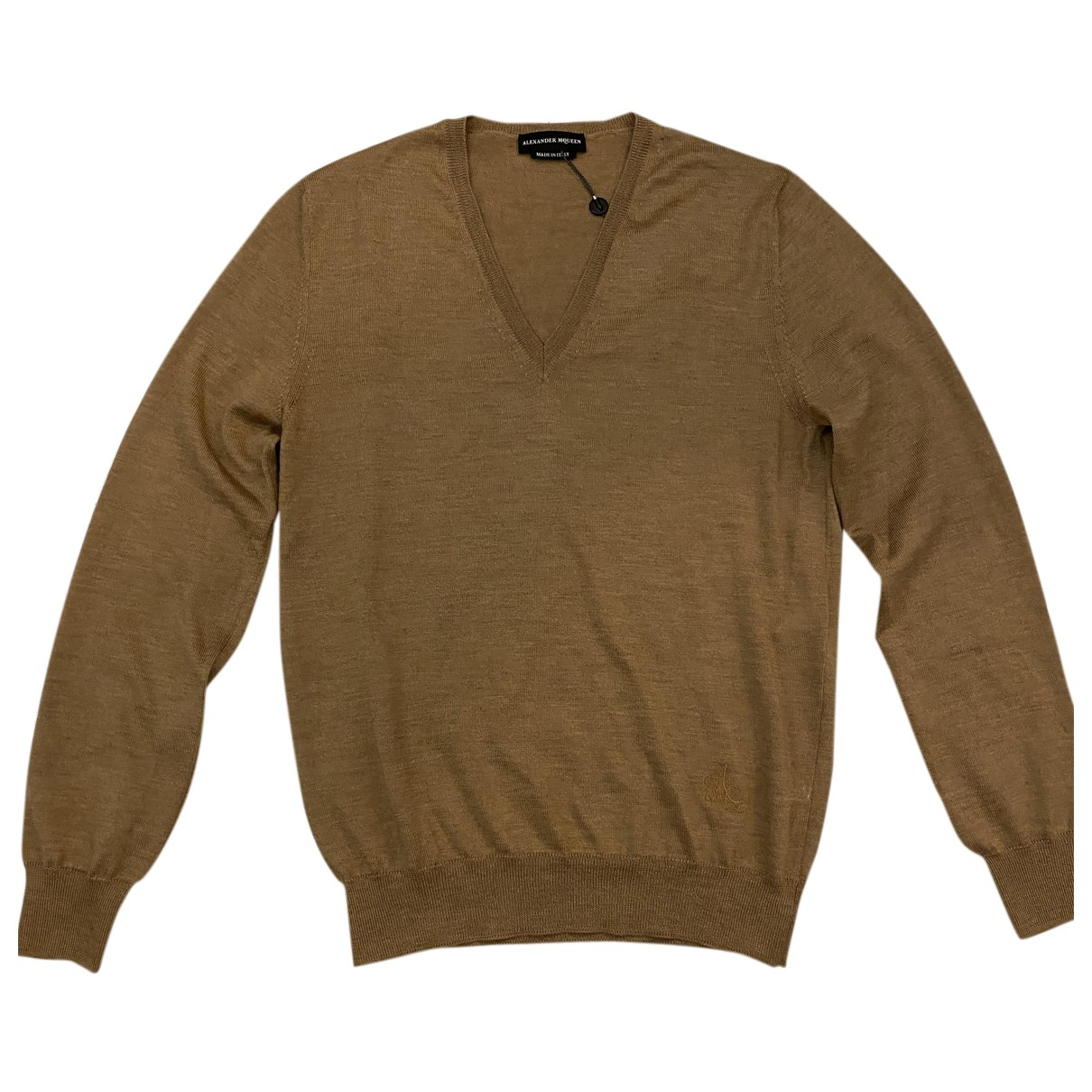 Alexander Mcqueen \N Pullover.Westen.Sweatshirts  in  Kamel Wolle