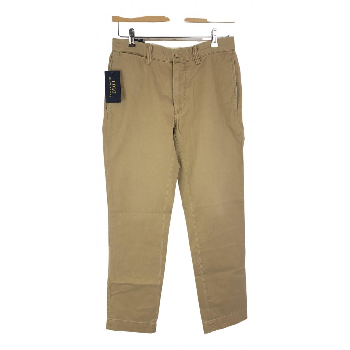 Polo Ralph Lauren \N Beige Cotton Trousers for Men 28 UK - US