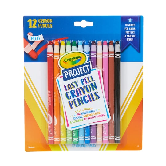 Crayola® Project™ Easy Peel Crayon Pencils | Michaels®