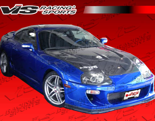 VIS Racing 93TYSUP2DDFT2-010C Drift 2 Style Black Carbon Fiber Hood Toyota Supra 93-98
