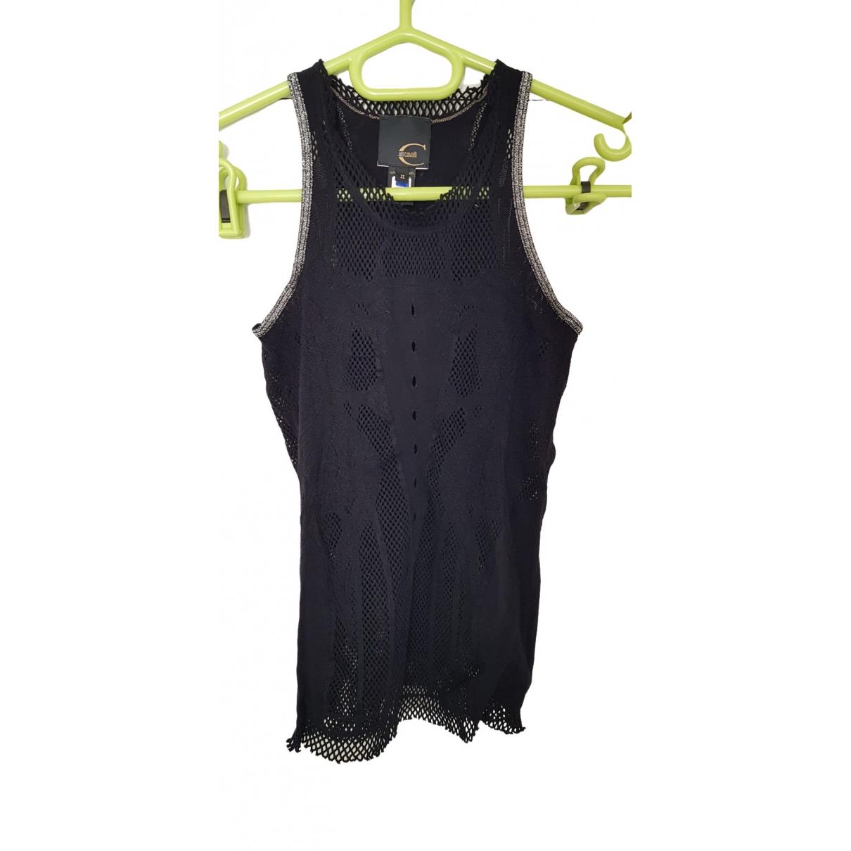 Just Cavalli - Top   pour femme en coton - noir