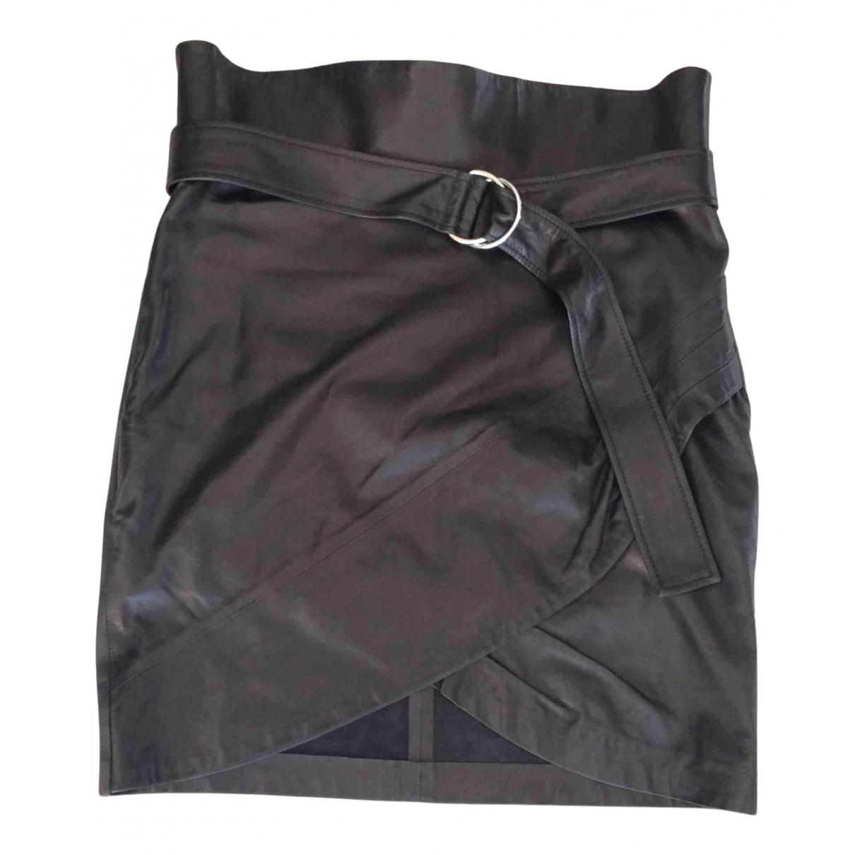 Iro - Jupe   pour femme en cuir - noir