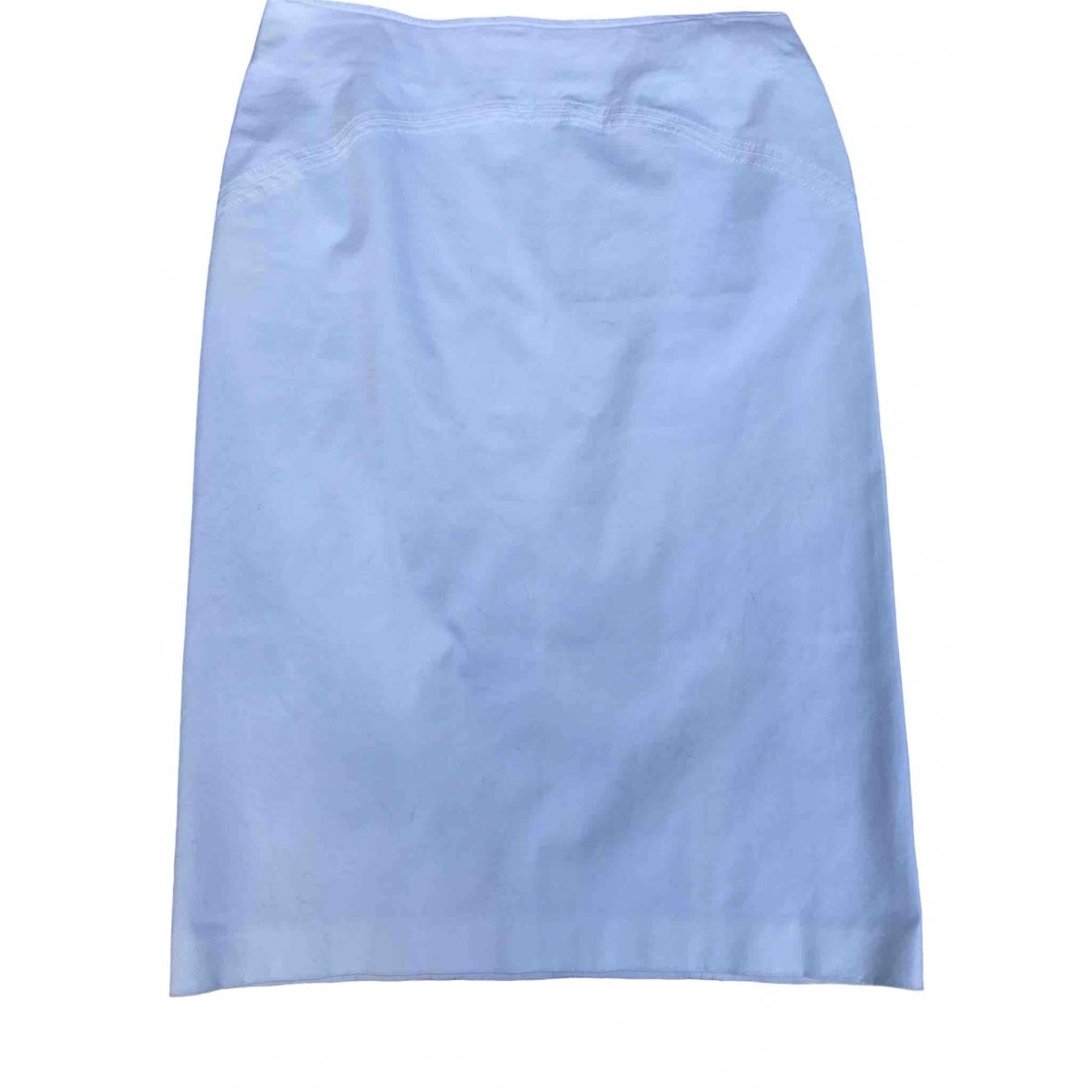 Mcq \N White Cotton skirt for Women 42 IT