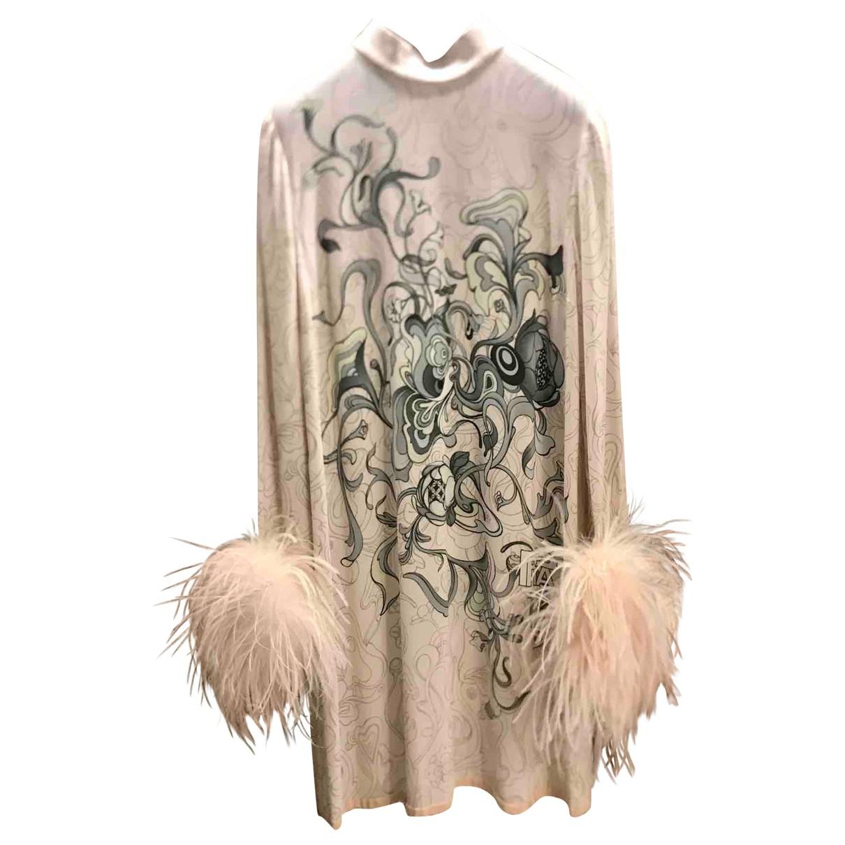 Prada - Robe   pour femme en fourrure - rose