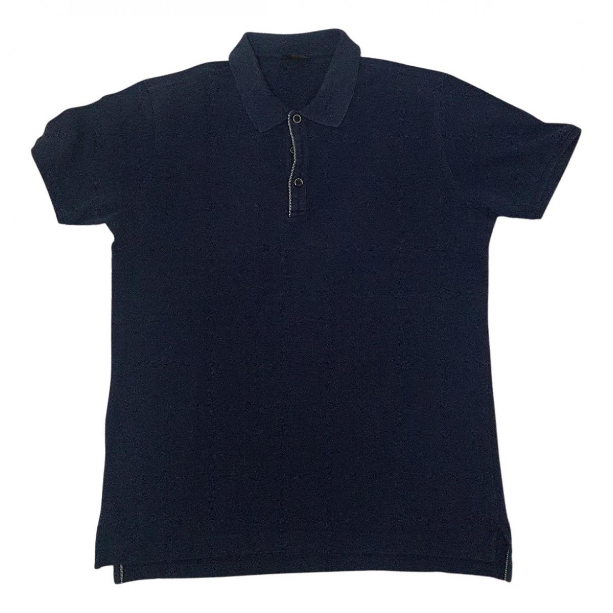 Fendi N Blue Cotton Polo shirts for Men 48 IT