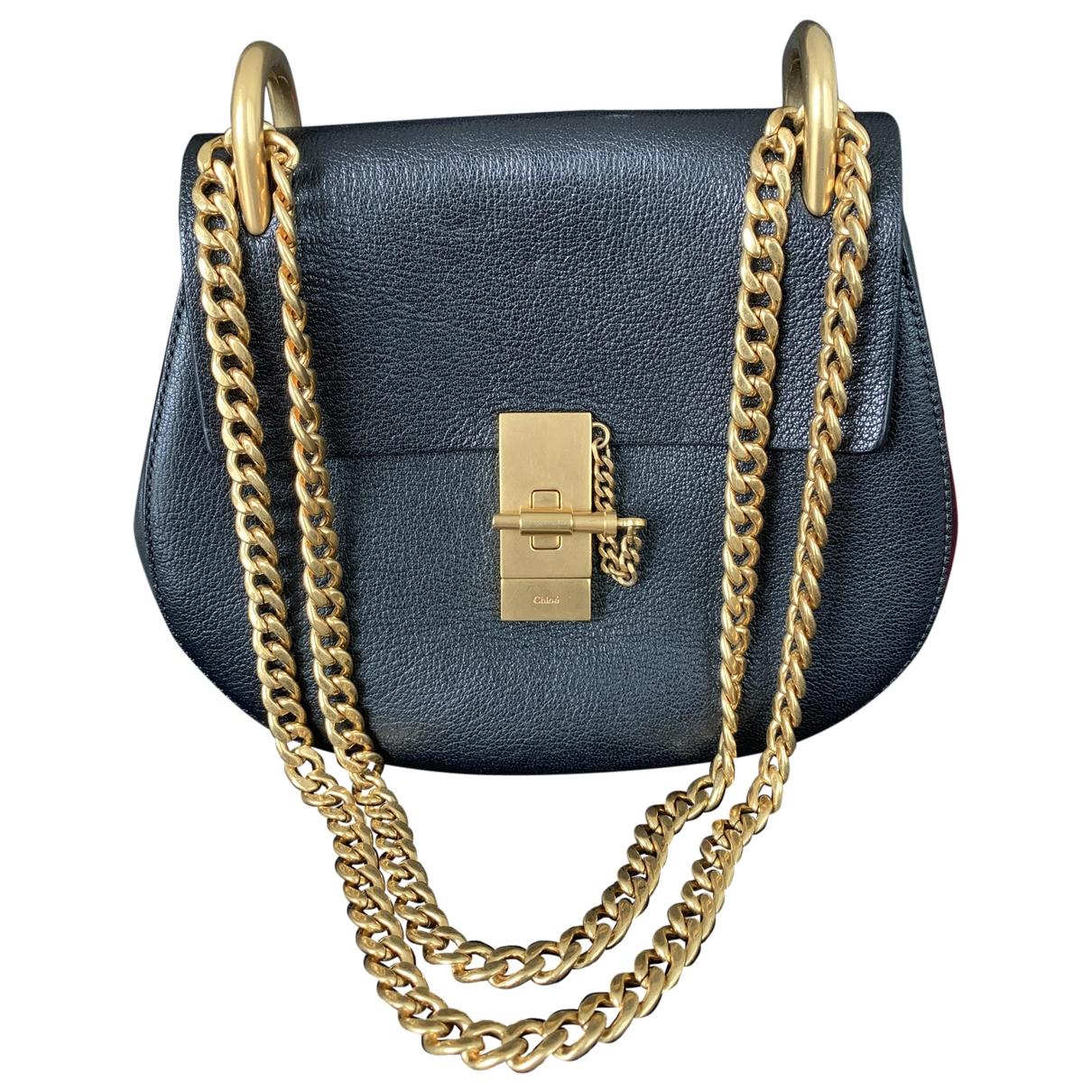 Chloe Drew Handtasche in  Schwarz Leder