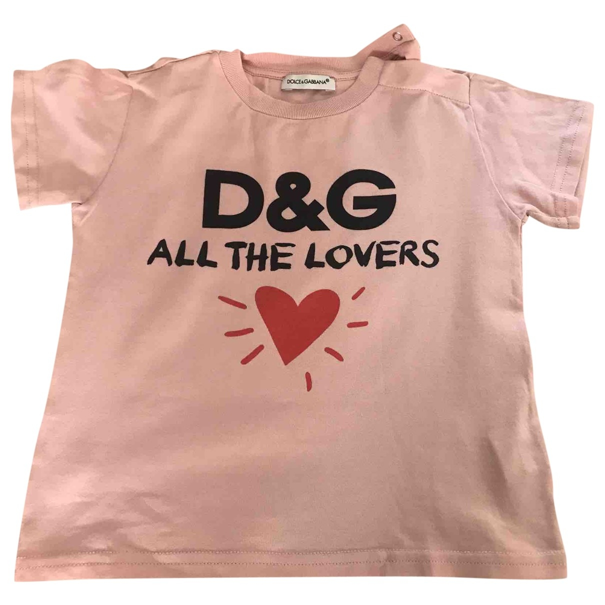 Dolce & Gabbana \N Pink Cotton  top for Kids 12 months - up to 74cm FR