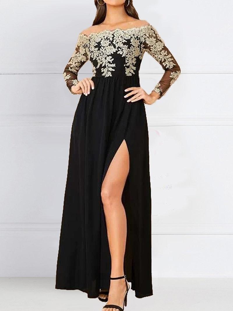 Ericdress Long Sleeve Floor-Length Regular High Waist Women's Dress