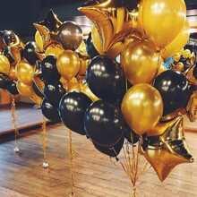 Conjunto de globos lisos y con estrellas - 13 unidades