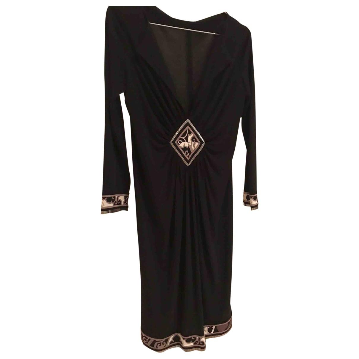 Leonard \N Black Silk dress for Women S International