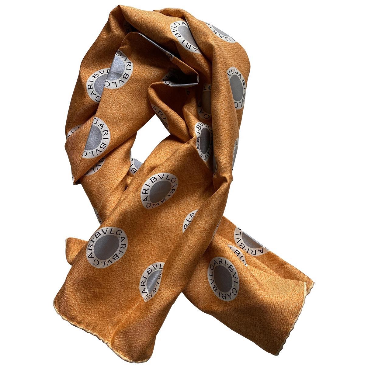 Bvlgari \N Orange Silk scarf for Women \N