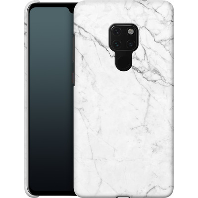 Huawei Mate 20 Smartphone Huelle - White Marble von caseable Designs