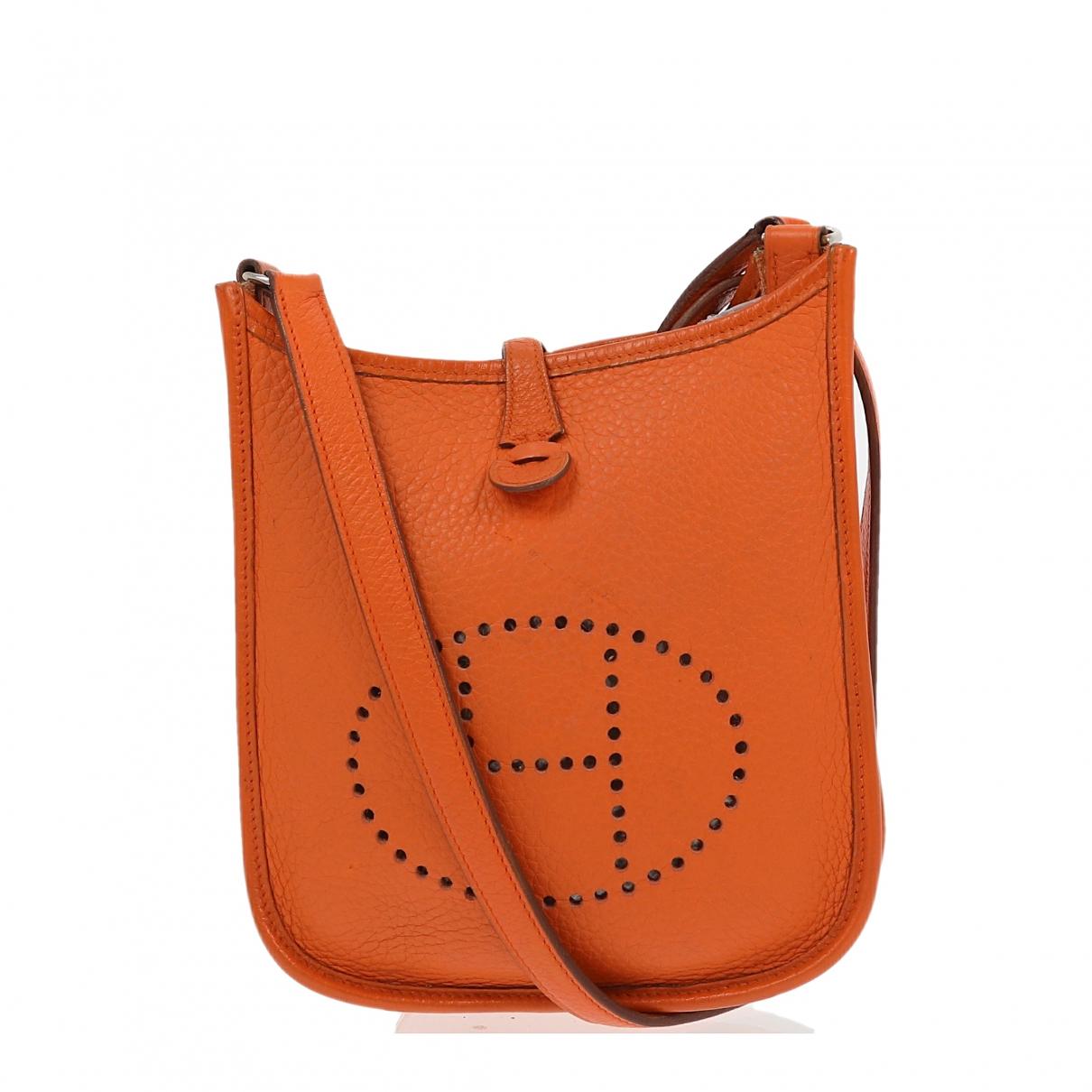 Hermes Evelyne Handtasche in  Orange Leder