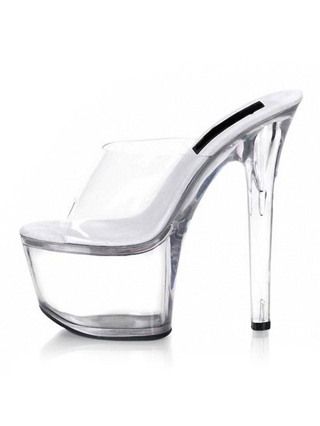 Milanoo Trendy Transparent Plastic Sexy Mules For Women