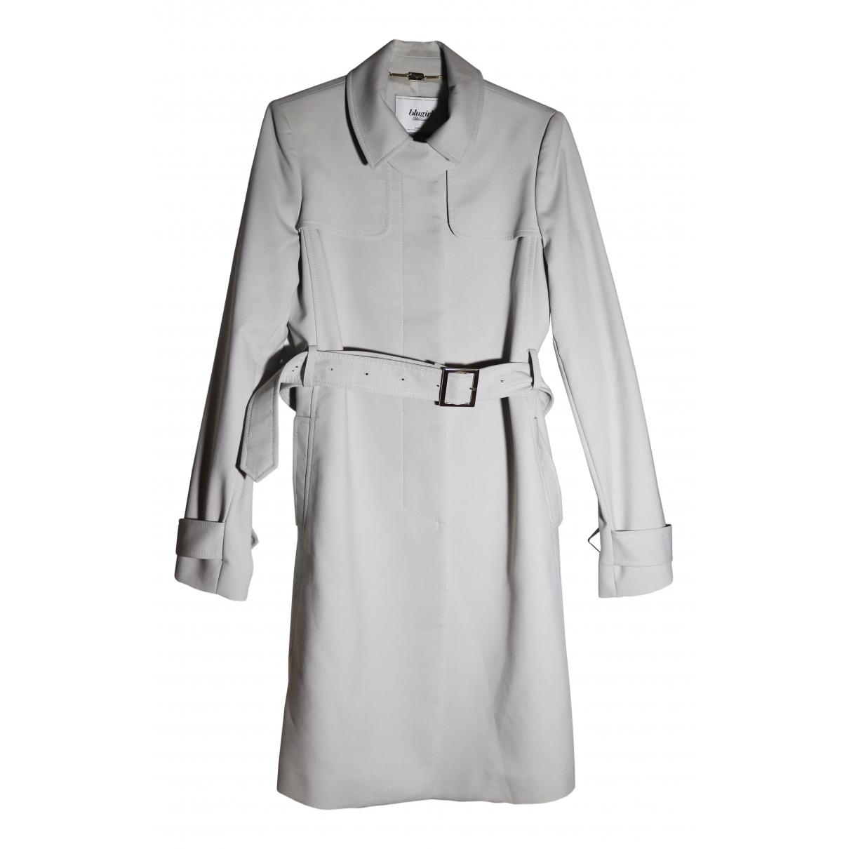 Blumarine - Trench   pour femme en coton - gris