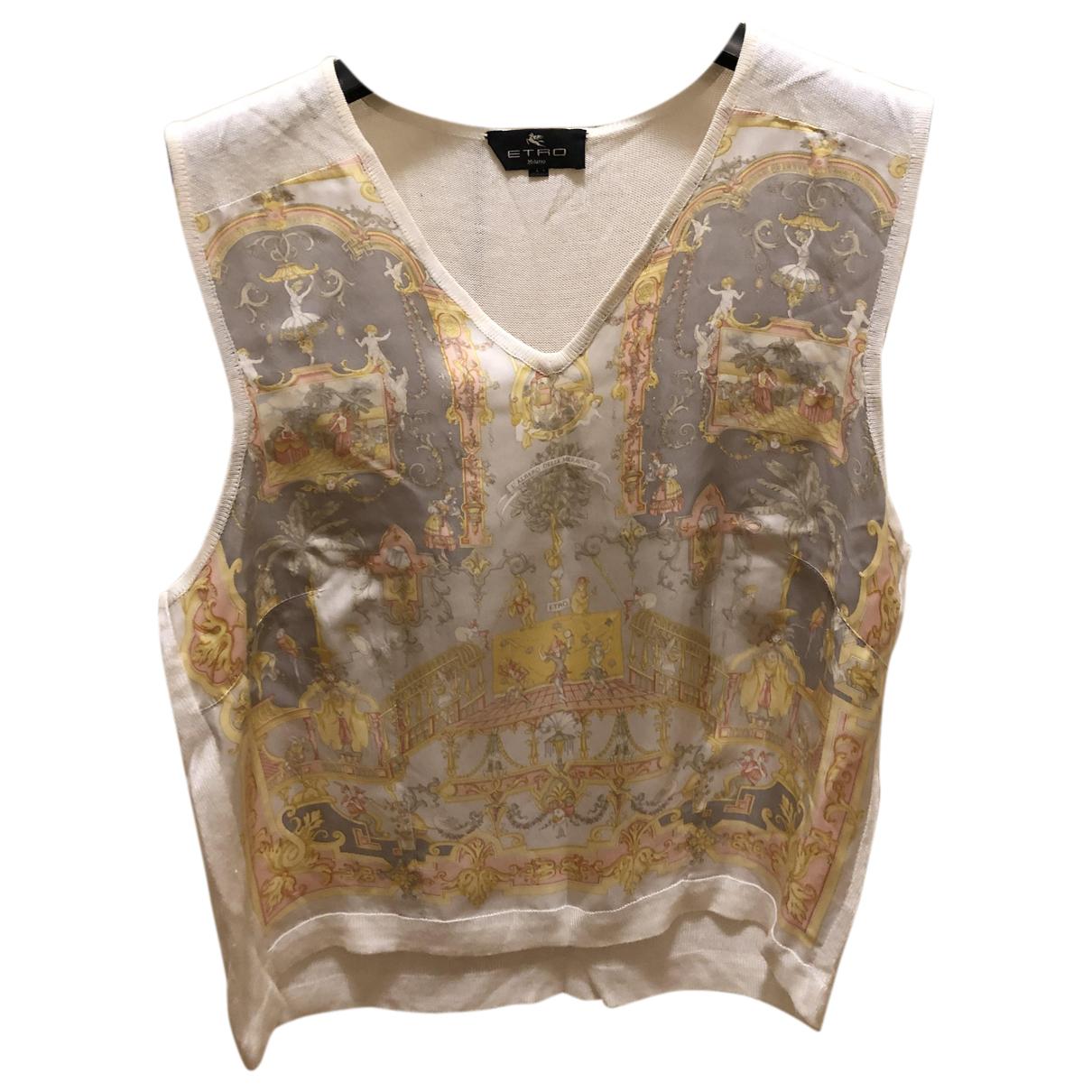 Etro N White Silk  top for Women 44 IT