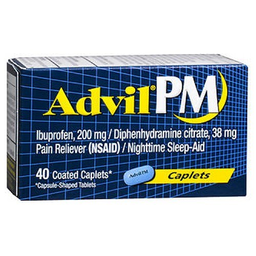 Advil Pain Reliever And Nighttime Sleep Aid 40 Caplets by Advil