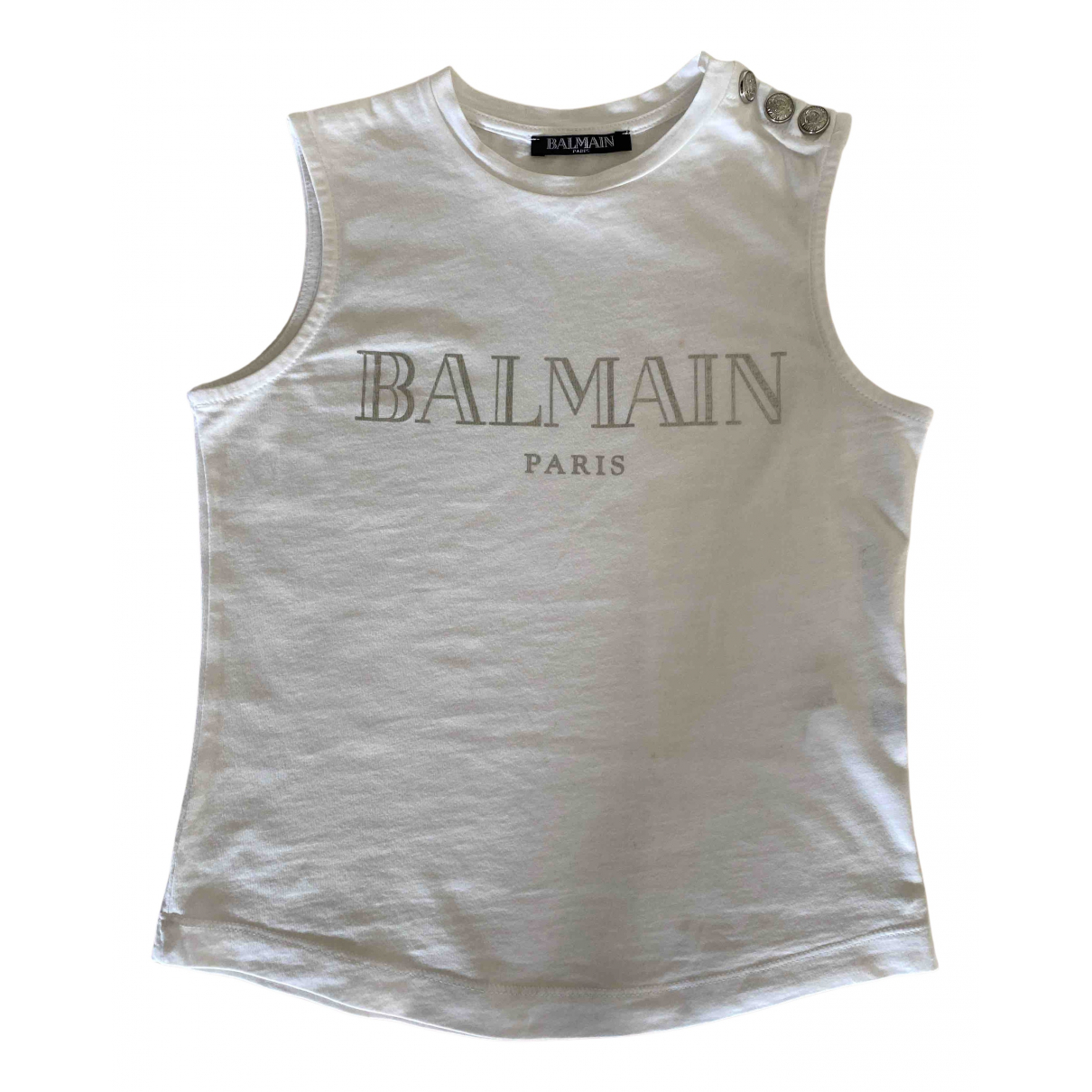 Balmain - Top   pour enfant en coton - blanc