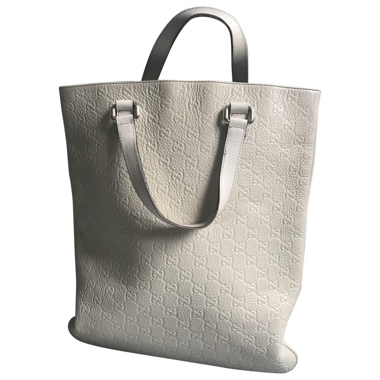 Gucci Bestiary tote White Leather handbag for Women \N