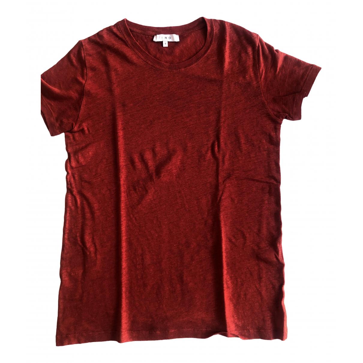 Iro - Top   pour femme en lin - rouge
