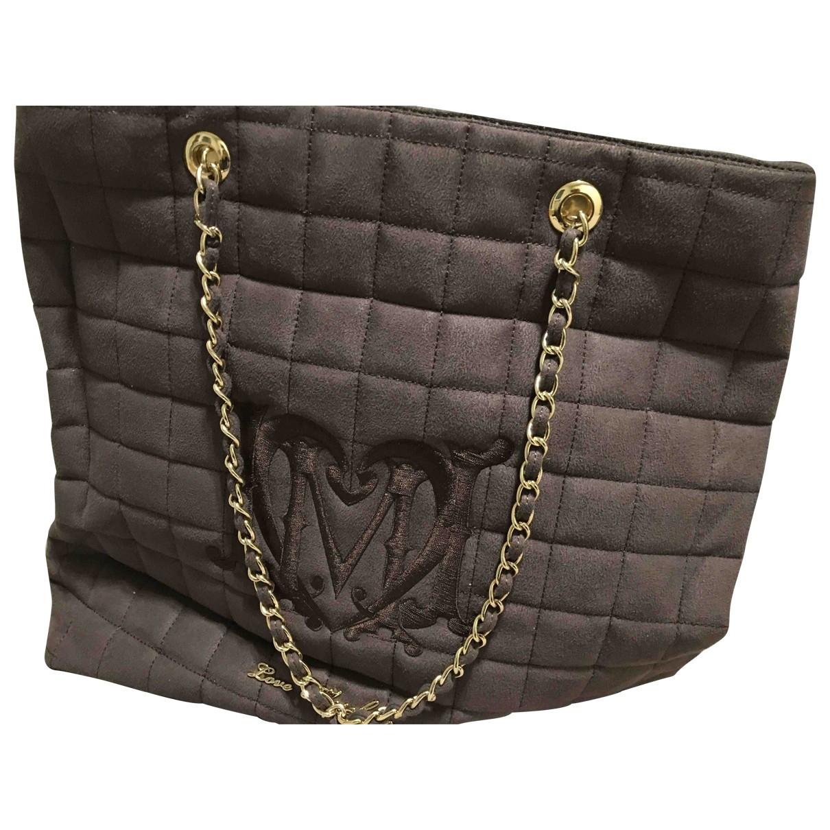 Moschino Love \N Handtasche in  Braun Leinen