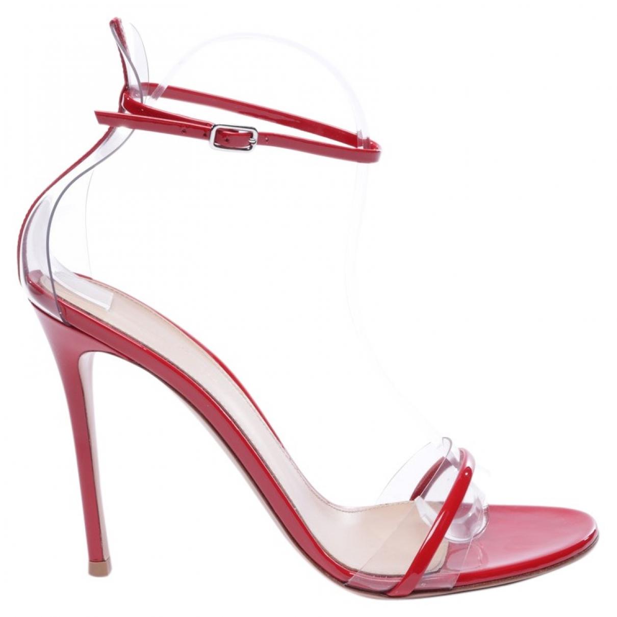 Gianvito Rossi - Sandales   pour femme en cuir - rouge