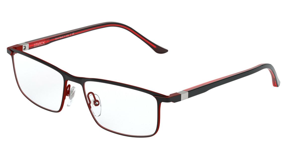 Starck SH2047 0002 Men's Glasses Black Size 56 - Free Lenses - HSA/FSA Insurance - Blue Light Block Available