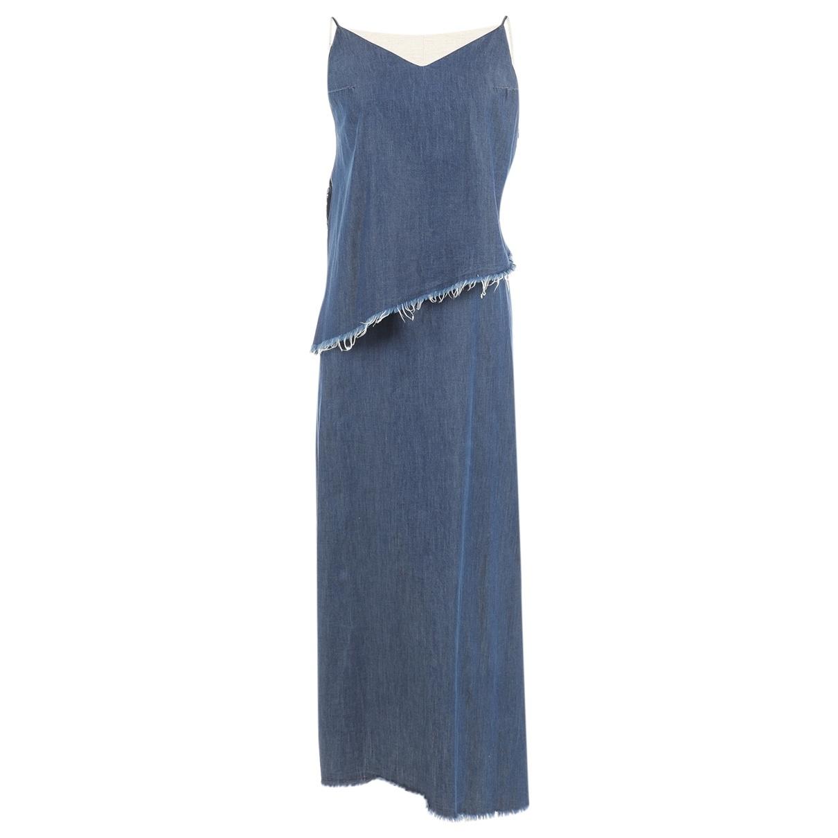 Marques Almeida - Robe   pour femme en coton - bleu