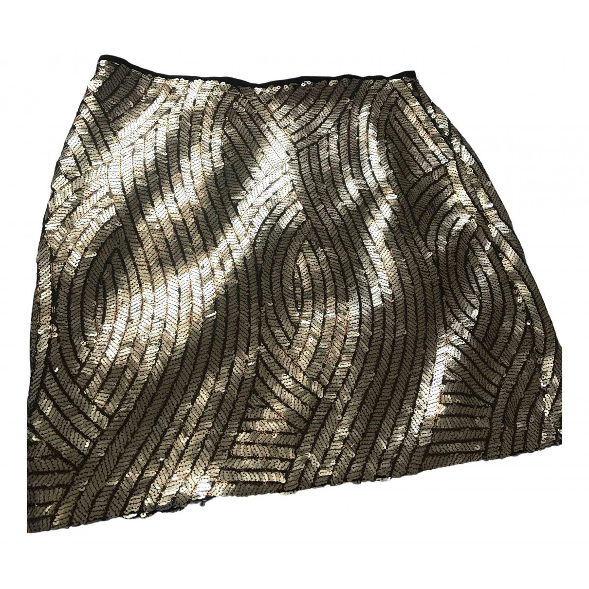 Topshop - Jupe   pour femme en a paillettes - dore