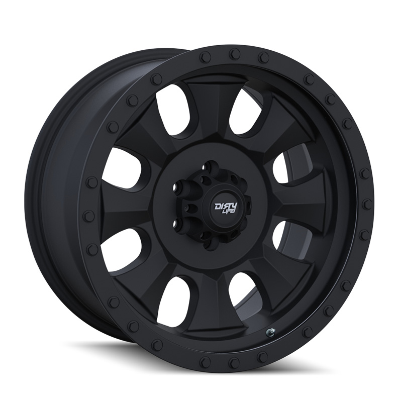 Dirty Life Ironman 9300 Matte Black | Black Beadlock 20X9 5x139.7 0mm 108mm Wheel