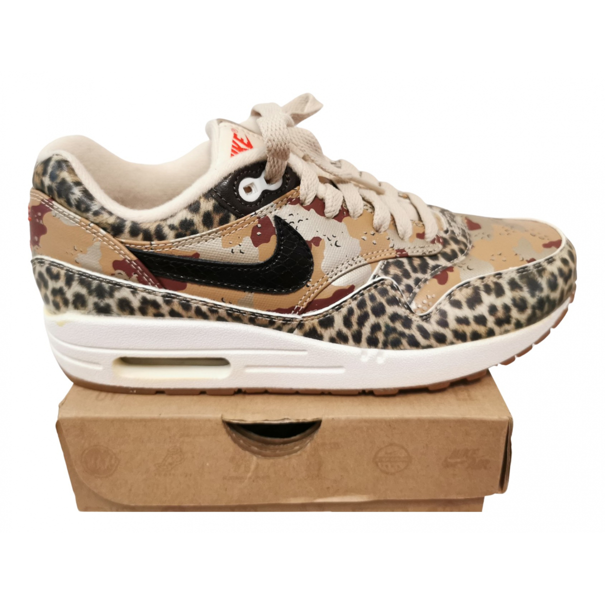 Nike Air Max 1 Multicolour Leather Trainers for Women 7 US