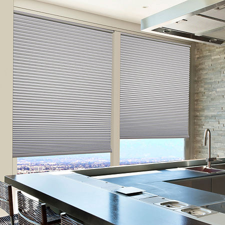 Home Expressions Cut-to-Width Cordless Blackout Cellular Shade, One Size , Gray