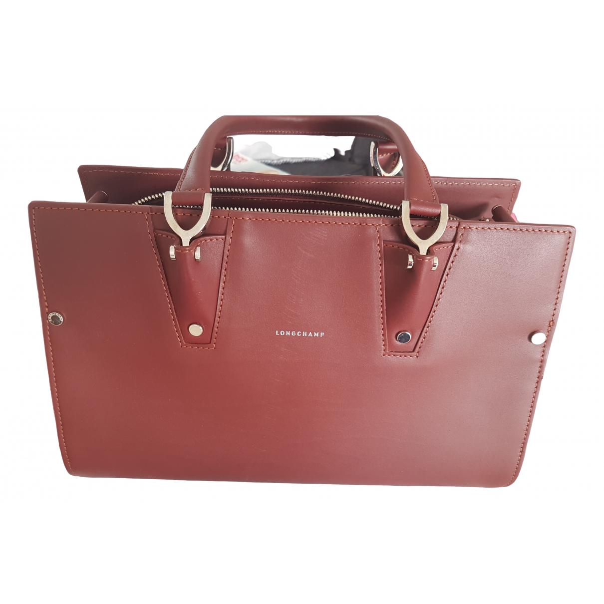 Longchamp \N Handtasche in  Bordeauxrot Leder