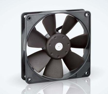ebm-papst , 24 V dc, DC Axial Fan, 119 x 119 x 25mm, 140m³/h, 3.2W, IP20