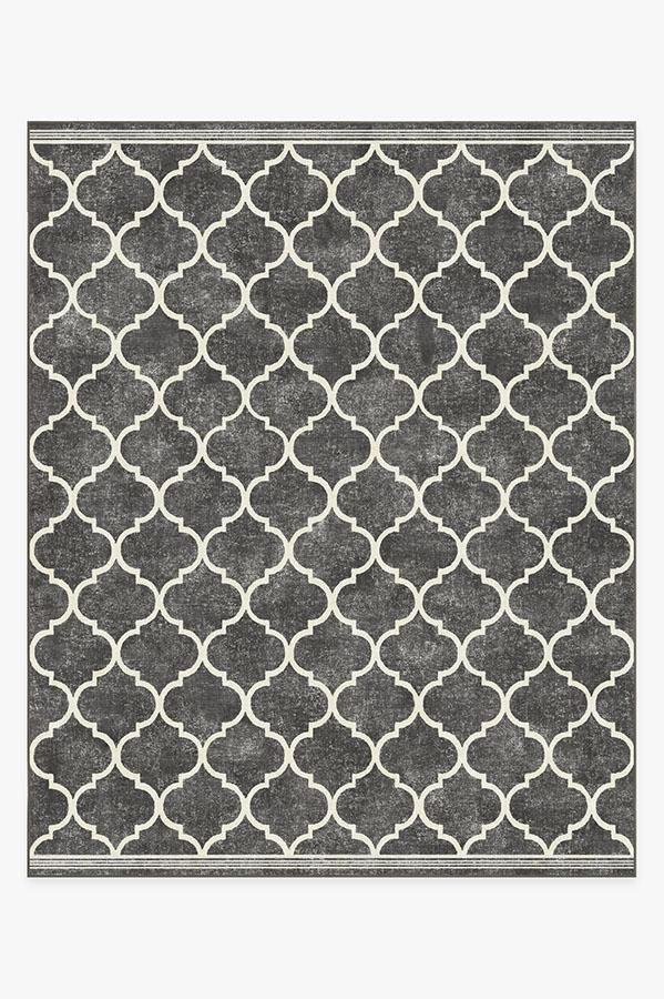 Washable Rug Cover | Terali Black Rug | Stain-Resistant | Ruggable | 8'x10'