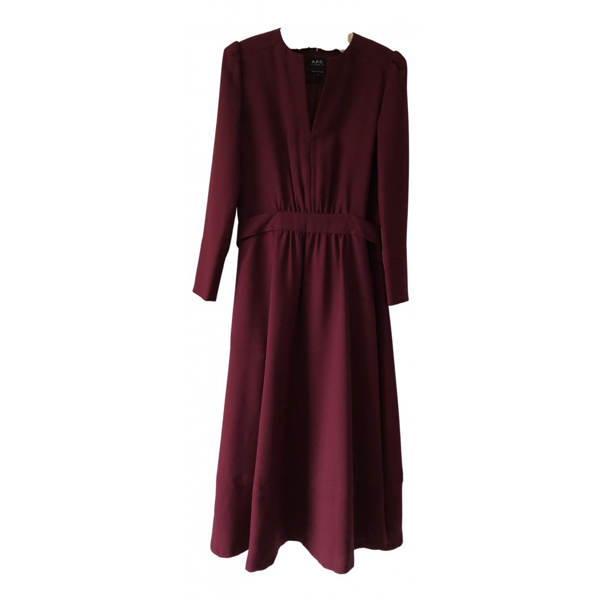 Apc \N Kleid in  Bordeauxrot Polyester