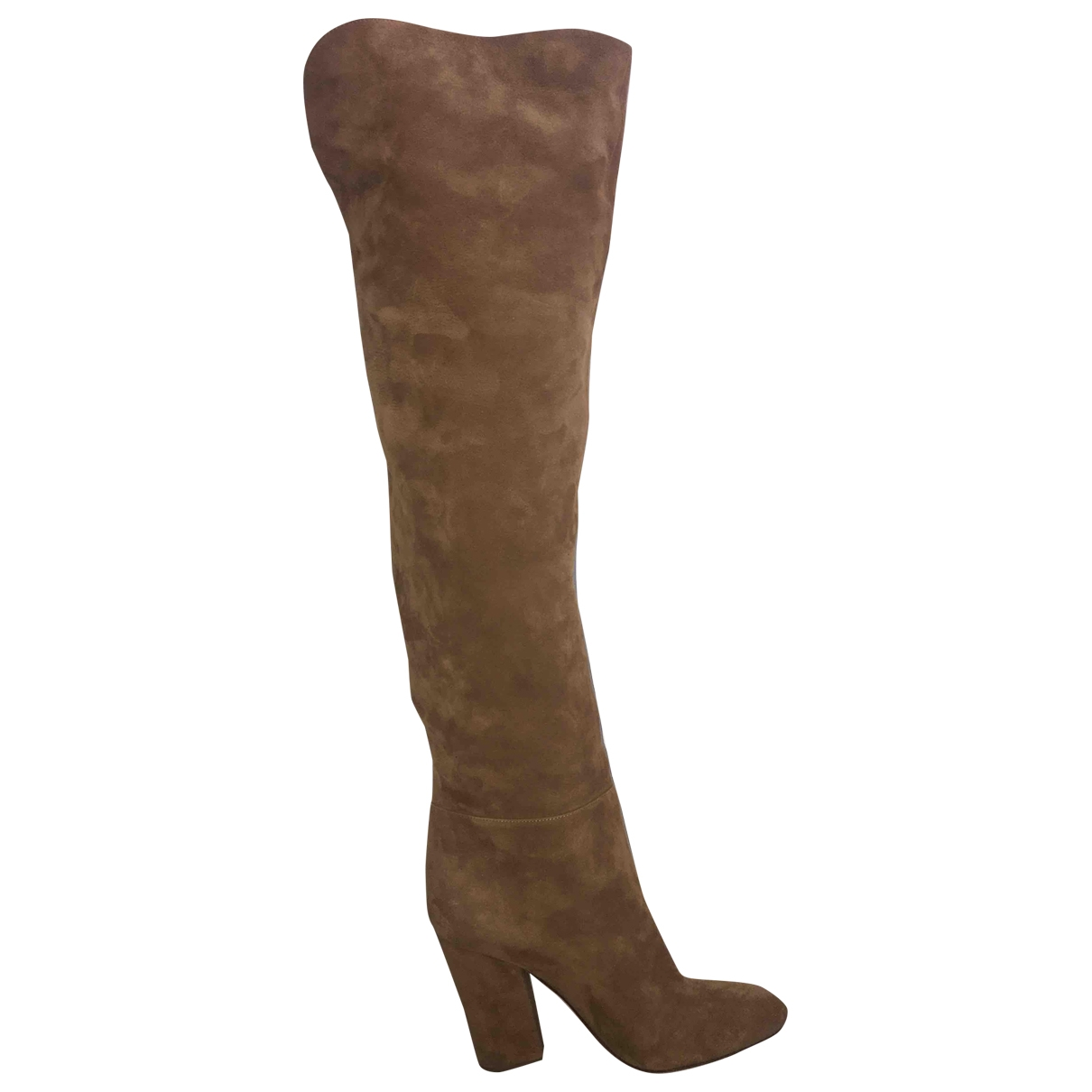 Sergio Rossi \N Camel Suede Boots for Women 39 EU