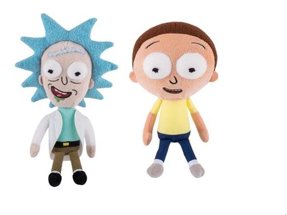 2 Piece Funko Rick & Morty Plush Figures