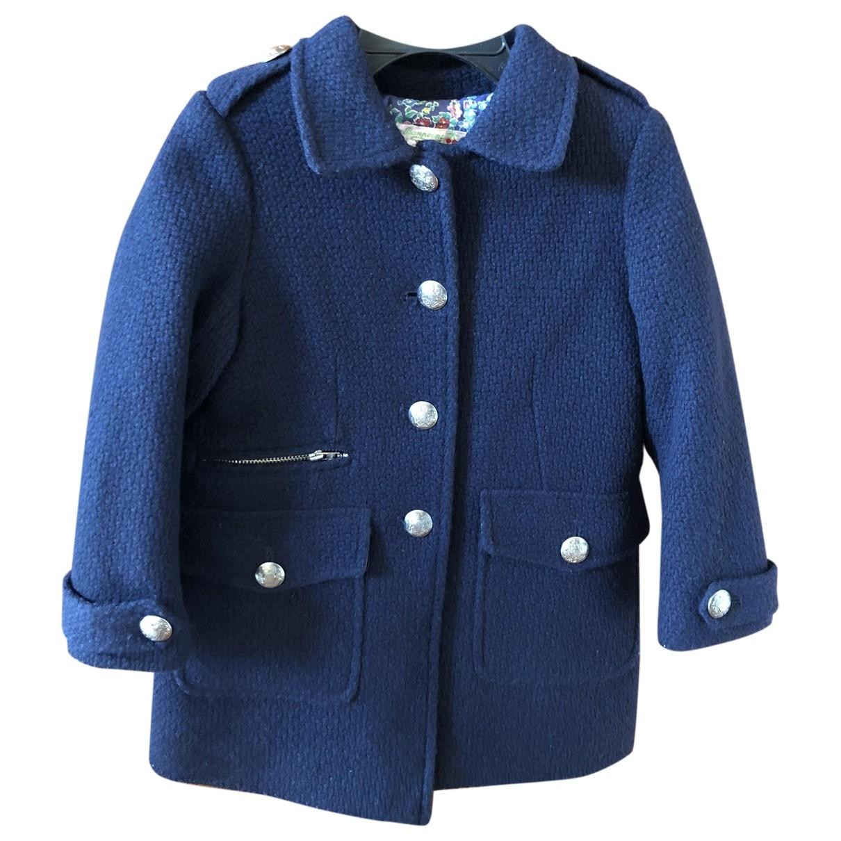 Bonpoint \N Jacke, Maentel in  Blau Wolle